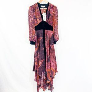 Divine Heritage Boysenberry Paisley Dress